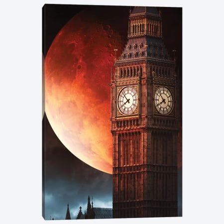 Big Ben Blood Moon Canvas Print #RNG5} by Ruvim Noga Art Print