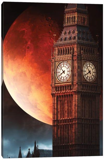 Big Ben Blood Moon Canvas Art Print