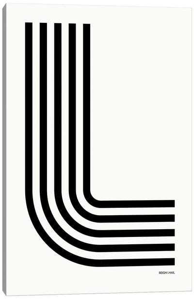 L Geometric Letter Canvas Art Print
