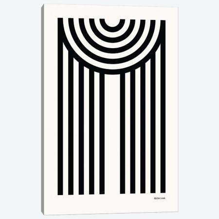 M Geometric Letter Canvas Print #RNH13} by Reign & Hail Art Print