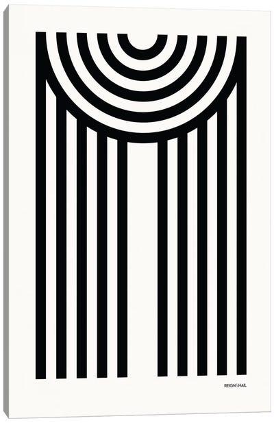 M Geometric Letter Canvas Art Print