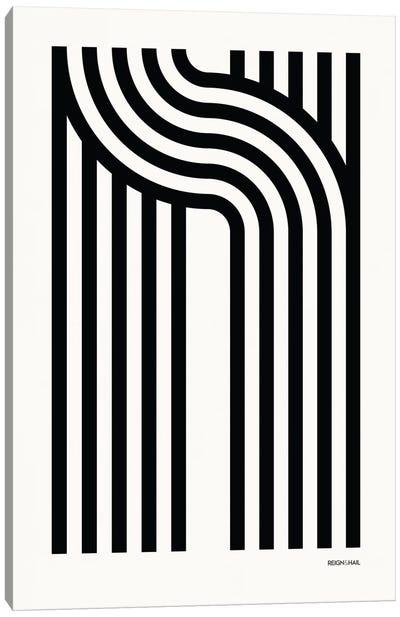 N Geometric Letter Canvas Art Print