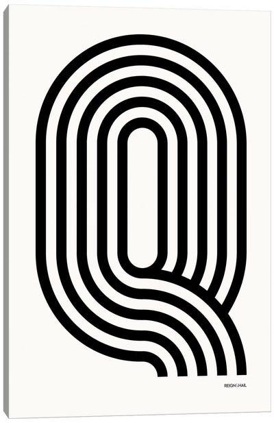Q Geometric Letter Canvas Art Print