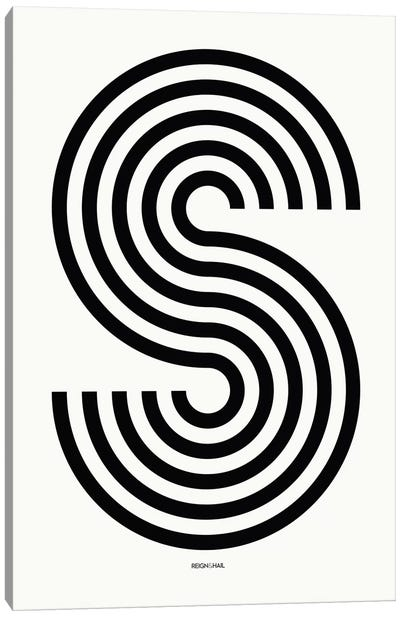 S Geometric Letter Canvas Art Print