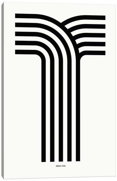 T Geometric Letter Canvas Art Print