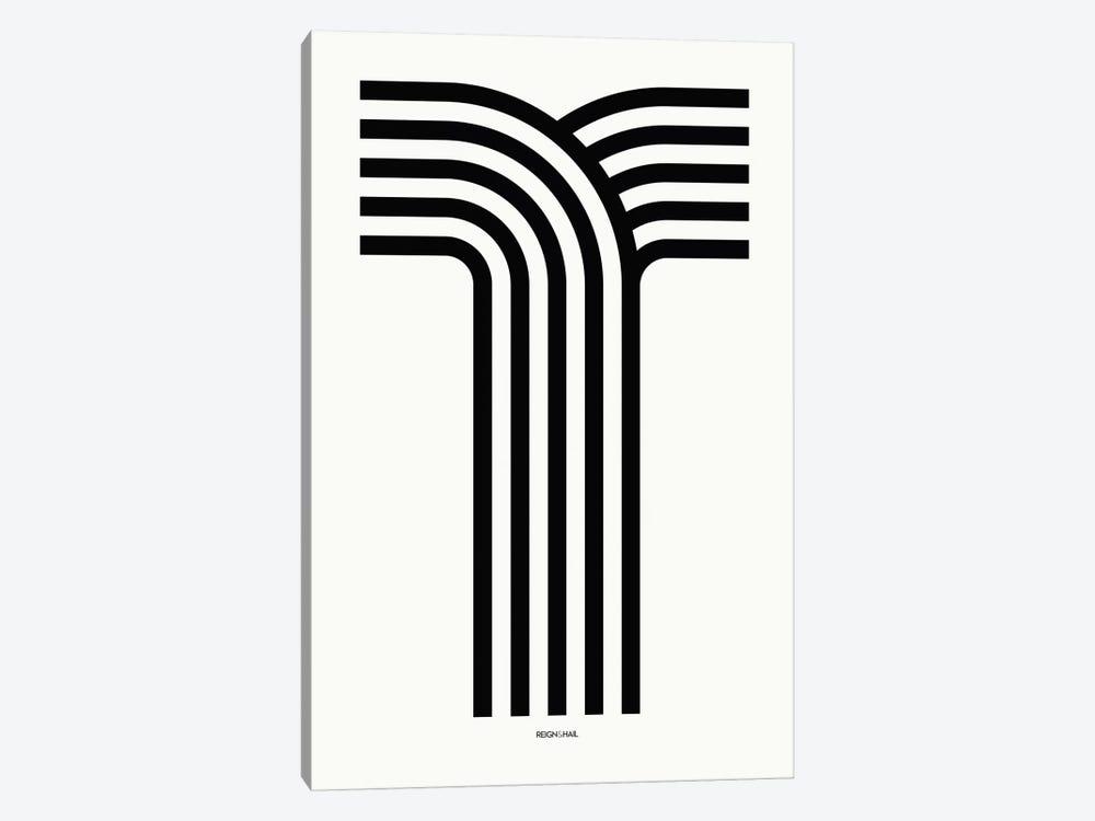 T Geometric Letter by Reign & Hail 1-piece Art Print