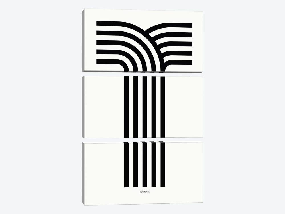 T Geometric Letter by Reign & Hail 3-piece Art Print