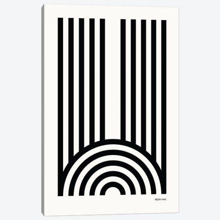 W Geometric Letter Canvas Print #RNH23} by Reign & Hail Canvas Wall Art