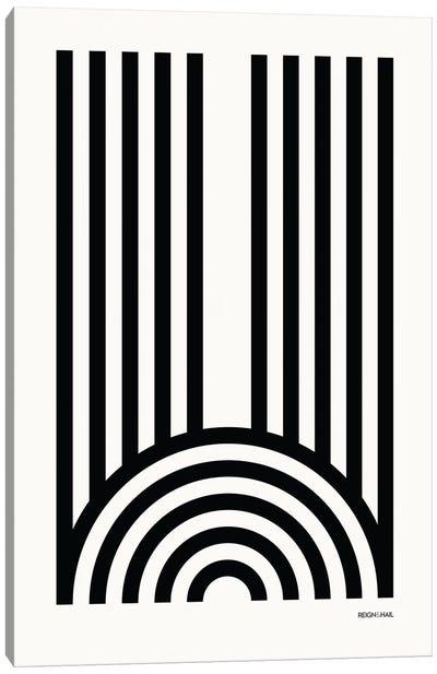 W Geometric Letter Canvas Art Print