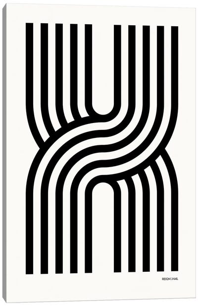 X Geometric Letter Canvas Art Print
