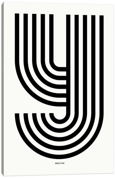 Y Geometric Letter Canvas Art Print