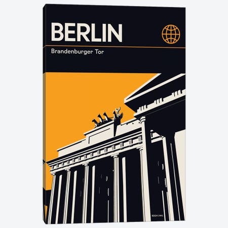 Berlin Canvas Print #RNH28} by Reign & Hail Canvas Artwork