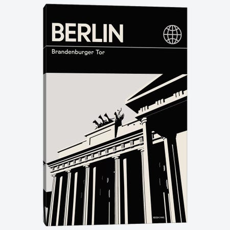 Berlin In Black And White Canvas Print #RNH29} by Reign & Hail Canvas Artwork