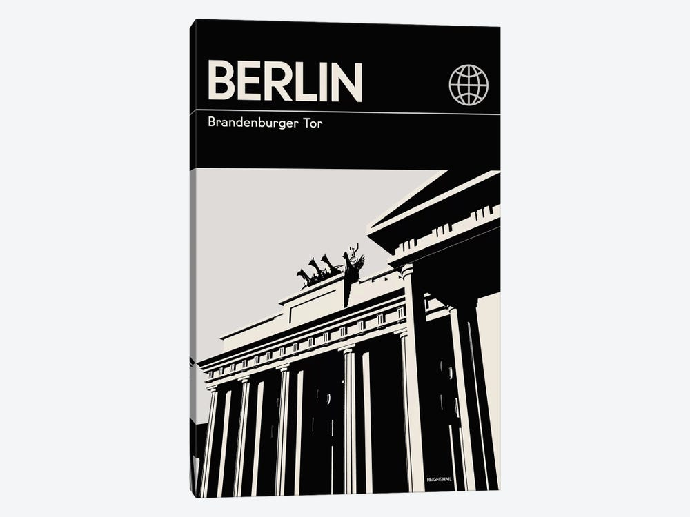 Berlin In Black And White by Reign & Hail 1-piece Canvas Wall Art
