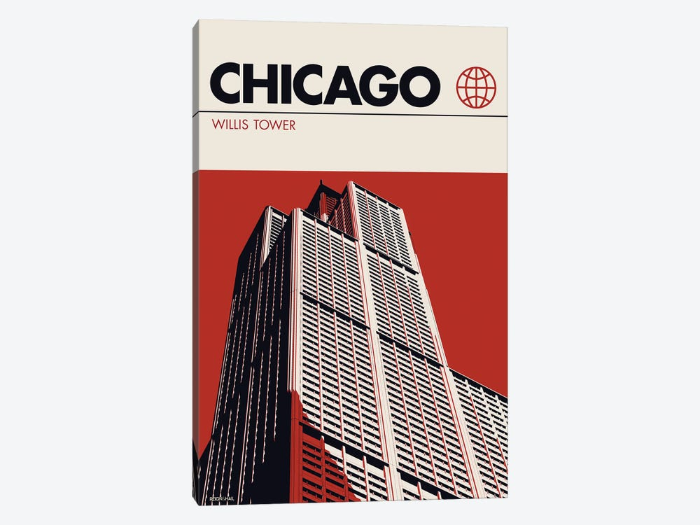 Chicago by Reign & Hail 1-piece Canvas Artwork