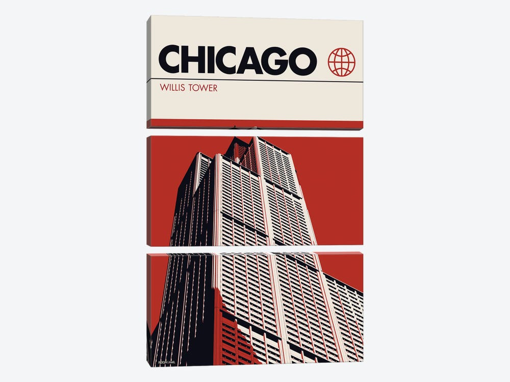 Chicago by Reign & Hail 3-piece Canvas Wall Art