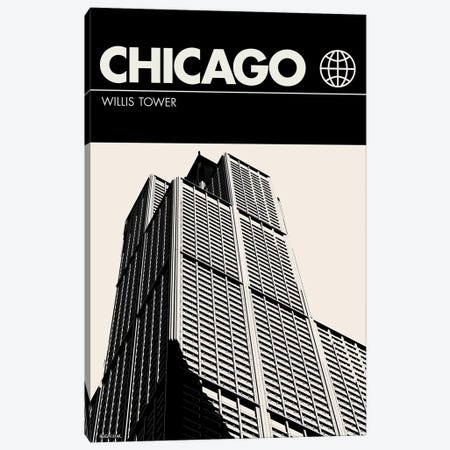 Chicago In Black And White Canvas Print #RNH31} by Reign & Hail Canvas Art Print