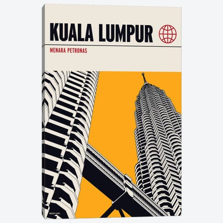 Kualalumpur Canvas Print #RNH34} by Reign & Hail Canvas Wall Art