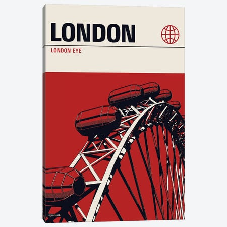 London Canvas Print #RNH35} by Reign & Hail Canvas Art