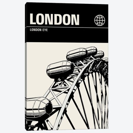 London In Black And White Canvas Print #RNH36} by Reign & Hail Canvas Artwork