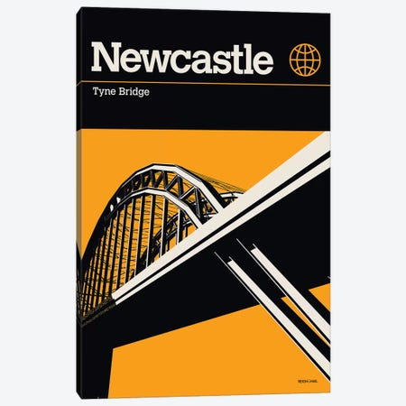 Newcastle Canvas Print #RNH37} by Reign & Hail Canvas Artwork