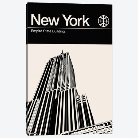 New York In Black And White Canvas Print #RNH39} by Reign & Hail Art Print