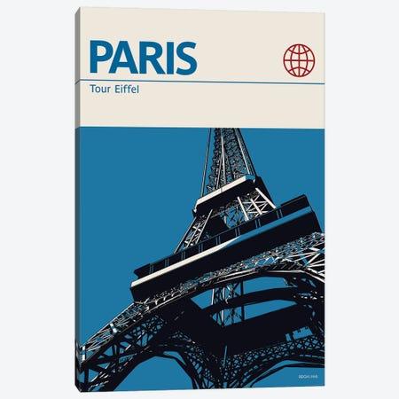 Paris Canvas Print #RNH40} by Reign & Hail Canvas Art