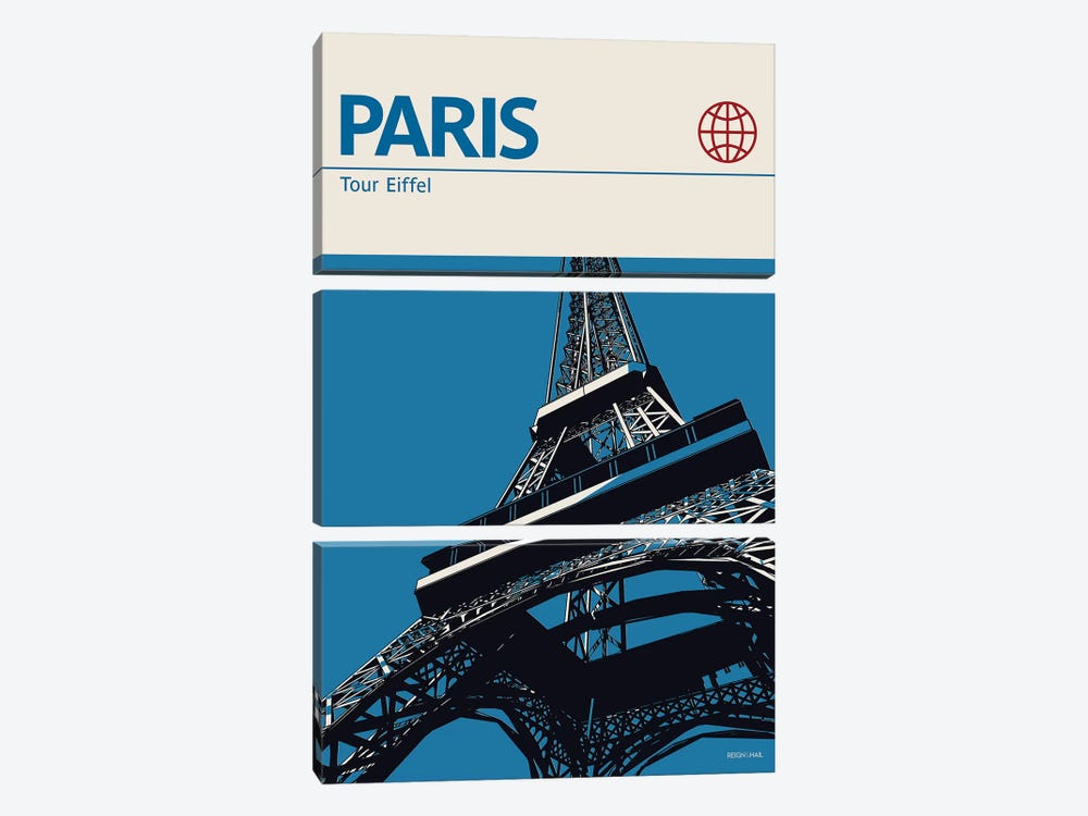 Paris by Reign & Hail 3-piece Canvas Art Print
