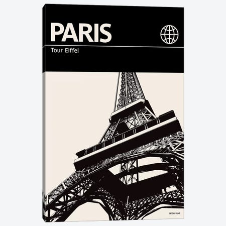 Paris In Black And White Canvas Print #RNH41} by Reign & Hail Canvas Artwork