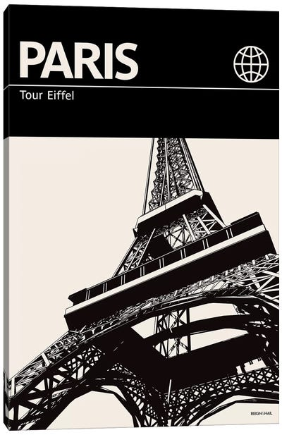 Paris In Black And White Canvas Art Print