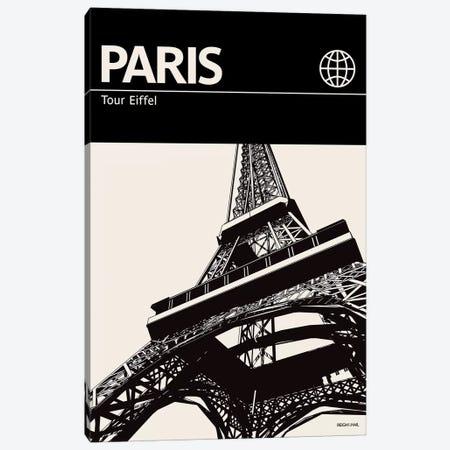 Paris In Black And White Canvas Print #RNH41} by Reign & Hail Canvas Artwork