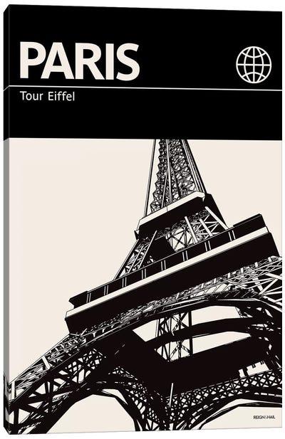 Paris In Black And White Canvas Art Print