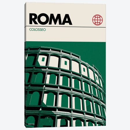 Rome Canvas Print #RNH42} by Reign & Hail Canvas Wall Art