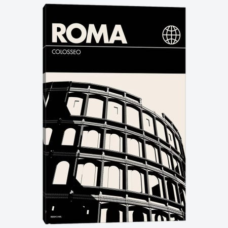 Rome In Black And White Canvas Print #RNH43} by Reign & Hail Canvas Wall Art
