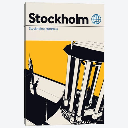 Stockholm Canvas Print #RNH44} by Reign & Hail Art Print