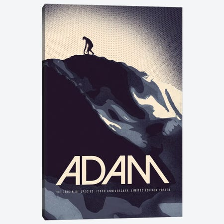 Adam - Darwin Print Canvas Print #RNH48} by Reign & Hail Canvas Artwork
