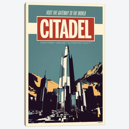 Citadel - Sci Fi Print Canvas Print #RNH50} by Reign & Hail Canvas Print