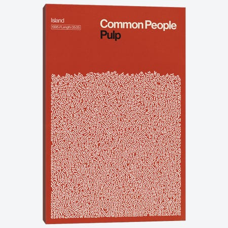 Common People By Pulp Lyrics Print Canvas Print #RNH56} by Reign & Hail Canvas Wall Art