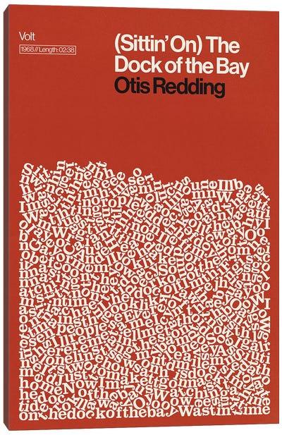 Dock Of The Bay By Otis Redding Lyrics Print Canvas Art Print