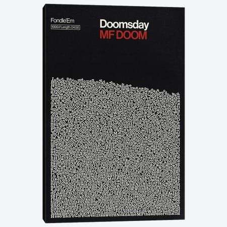Doomsday By MF Doom Lyrics Print Canvas Print #RNH58} by Reign & Hail Canvas Print
