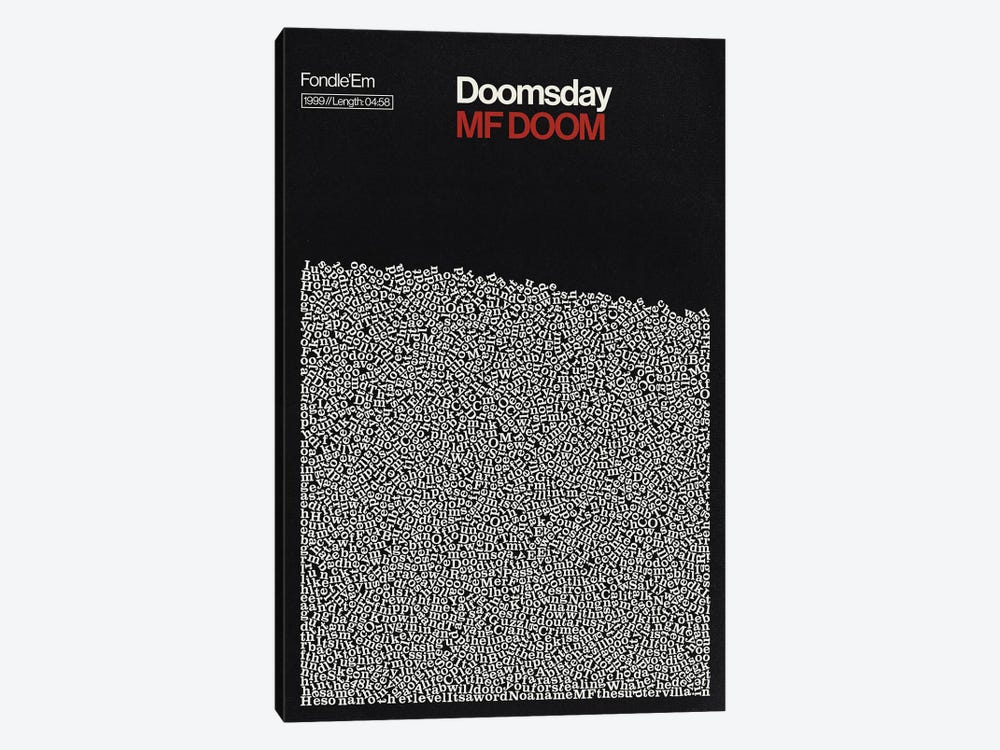Doomsday By MF Doom Lyrics Print by Reign & Hail 1-piece Canvas Wall Art