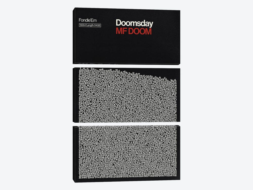 Doomsday By MF Doom Lyrics Print by Reign & Hail 3-piece Canvas Wall Art