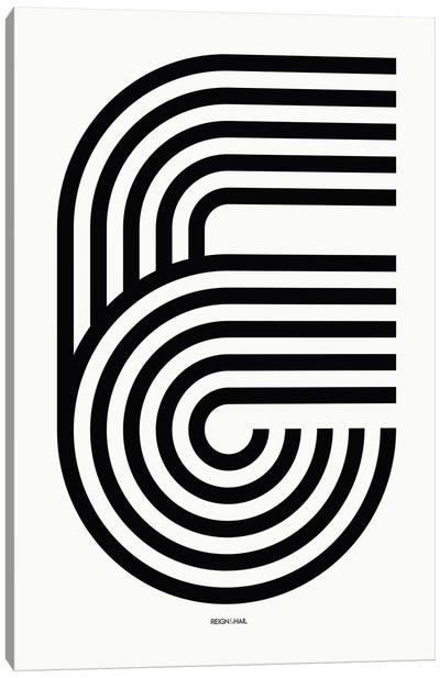 E Geometric Letter Canvas Art Print