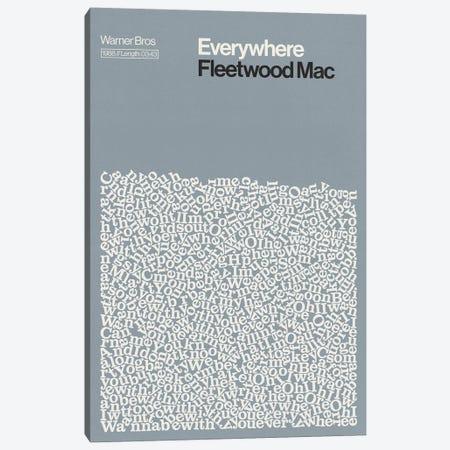 Everywhere By Fleetwood Mac Lyrics Print Canvas Print #RNH60} by Reign & Hail Canvas Wall Art