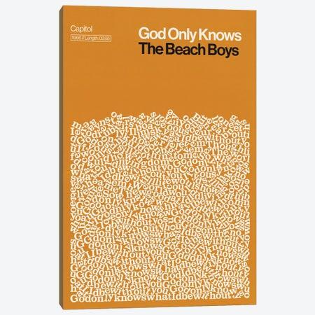 God Only Knows By The Beach Boys Lyrics Print Canvas Print #RNH63} by Reign & Hail Canvas Artwork