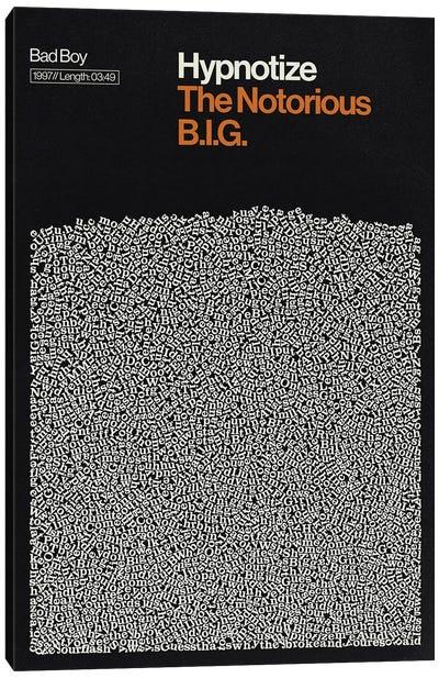 Hypnotize By Notorious BIG Lyrics Print Canvas Art Print