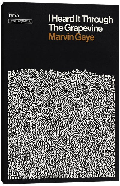 I Heard It Through The Grapevine By Marvin Gaye Lyrics Print Canvas Art Print