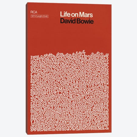 Life On Mars By David Bowie Lyrics Print Canvas Print #RNH68} by Reign & Hail Canvas Art