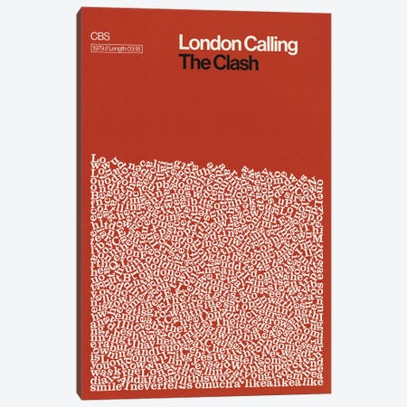 London Calling By The Clash Lyrics Print Canvas Print #RNH69} by Reign & Hail Canvas Art