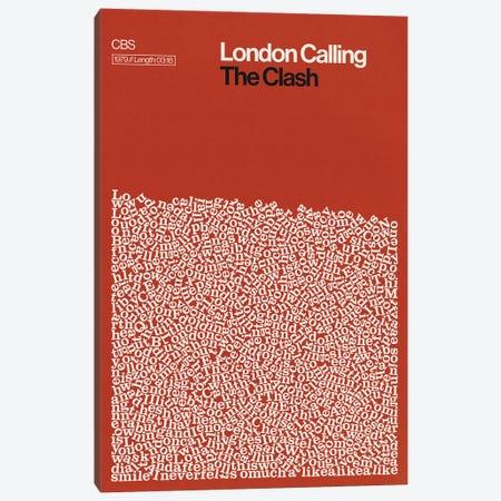 London Calling By The Clash Lyrics Print Canvas Print #RNH69} by Reign & Hail Canvas Art